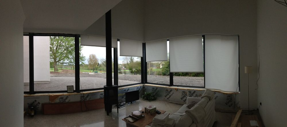 Vertical blinds in living room installed jackdaw ridge for Living room vertical blinds