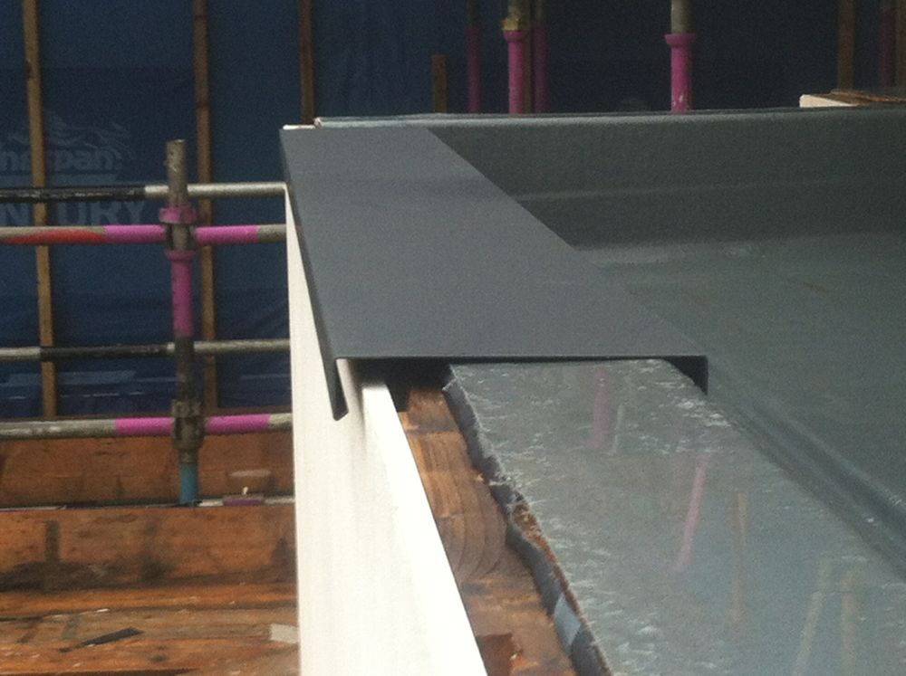 Parapet Capping In Aluminium Now Being Installed