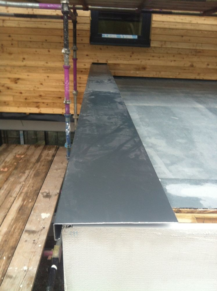 Parapet Capping In Aluminium Now Being Installed Jackdaw