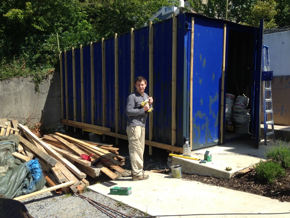 Shipping Container Cladding Completed Jackdaw Ridge